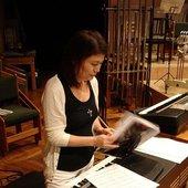 michiru yamane preparandose para el concierto en games convencion 2006