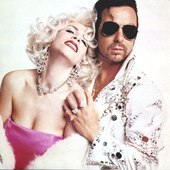 From The King and Queen of America Rare Brazilian Promo with the Playboy / Playgirl pose.