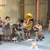 Tuba Skinny performing in the streets of San Sebastián in Basque Country (Spain)