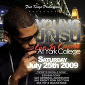 Young Jinsu at his concert York Collage