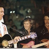 with Elvis and John Wilkinson in '74