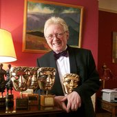 Mr Gunning with his BAFTAs