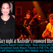 SEAY WITH SANDY MASON, CRYSTAL GAYLE AT THE BLUEBIRD
