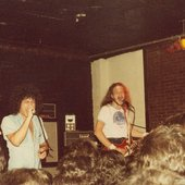 Guy and Mark at Zappas, 1978.