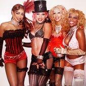 Christina Aguilera, Lil' Kim, Mýa and P!NK