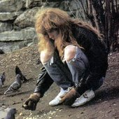 Dave with pigeons