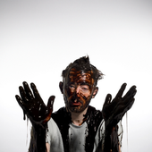 Thom Yorke covered in chocolate