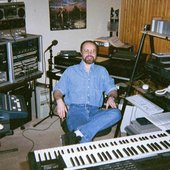 Eric Heberling in his project studio, 2000