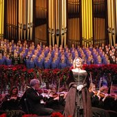 Renee Fleming preforming with the choir