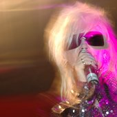 Pam Hogg on stage at Dayum! - London December 2005