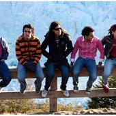 En el Glaciar Perito Moreno, Argentina