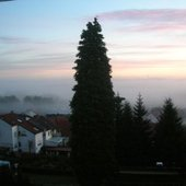 Early morning view from studio (Germany)