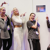 Agnete backstage at Eurovision 2016