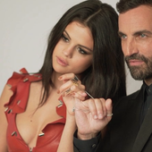 Selena Gomez and Nicolas Ghesquière from Louis Vuitton.