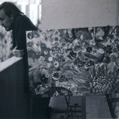 Egor Letov during making Pryg-Skok's cover art, 1990