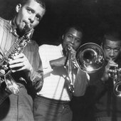 jackie mclean, grachan moncur III, & lee morgan @ rudy van gelder's by francis wolff. evolution sessions (1963).