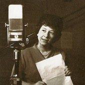 Irena Kwiatkowska, 1949, w studiu Polskiego Radia