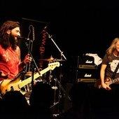 Doug Aldrich(lead guitar) and Michael Devin(bass guitar)