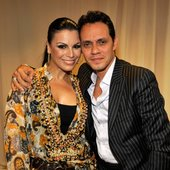Marc Anthony y Olga Tañón