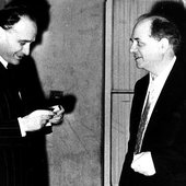 Ivo Malec with Olivier Messiaen