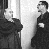 Eisler and Bertolt Brecht, Berlin 1950