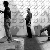 installing Logically Impossible Space / Venice Biennale, 1990 / photo by Wolfgang Träger