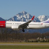 Kirsten Flagstad painted on a Norwegian Air Shuttle airliner