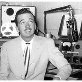 Tennessee Ernie Ford circa 1950 at WOPI, Bristol, Tennessee.