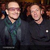 Bono, Edge, Chris Martin (Coldplay) & Brian Eno