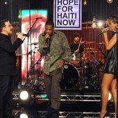 Jay-Z, Bono, The Edge & Rihanna