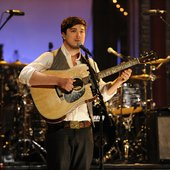 Marcus Mumford performs at Live on Letterman