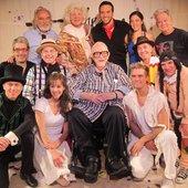 Harvey Schmidt (seated, center) Visits Cast of The Fantasticks