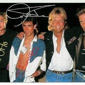 Blue System '87: Frank, Snoopy, Dieter & Achim.
