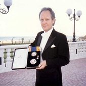 Anthony Camden accepting the Order of Oman
