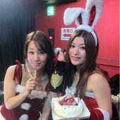 Aira and Saori at Christmas live show