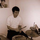 Tim drumming
