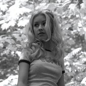 Christina Aguilera in the forest