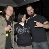 Me with John Henry (Darkest Hour) and Elliot (Beneath the Massacre)