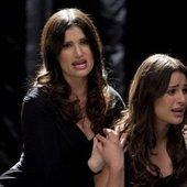 Idina Menzel and Lea Michele