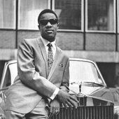 Stevie Wonder outside of EMI Records in Manchester Square, London, 1967. The company was celebrating Stevie's three British chart hits that year - A Place in the Sun, I Was Made to Love Her, and I'm Wondering.