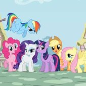 Twlight Sparkle, Pinkie Pie, Fluttershy, Applejack, Rarity, Rainbow Dash