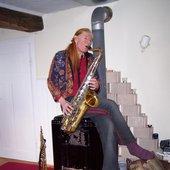 Venus playing a hot Sax
