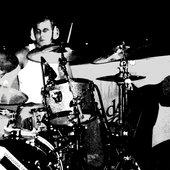 J-M behind drums