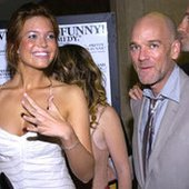 Mandy Moore and Michael Stipe