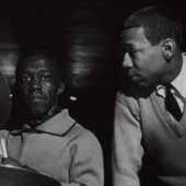 Art Blakey and Lee Morgan during Blakey's The Big Beat session, Englewood Cliffs NJ, March 6 1960 (photo by Francis Wolff)