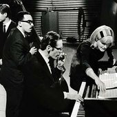 Alex Riel, Eddie Gomez, Bill Evans and Monica Zetterlund  photo: Jan Persson
