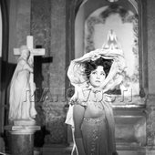 Maria Bieşu as Tosca in a scene from the opera movie Tosca based on music by Giacomo Puccini.