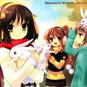 Hirano Aya, Chihara Minori, and Gotou Yuuko - Suzumiya Haruhi no Yuuutsu