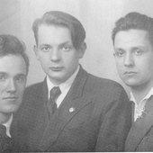 Студенты Московской Консерватории Святослав Рихтер, Владимир Чайковский, Виктор Мержанов