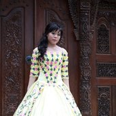 Sisca-Yellow Flower Dress